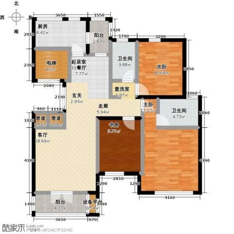 世纪梧桐公寓3室0厅2卫1厨135.00㎡户型图