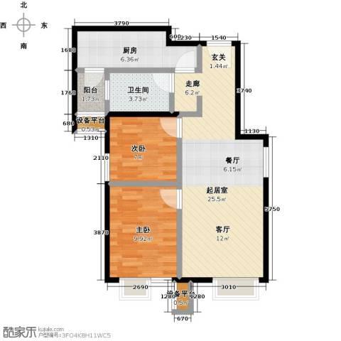 北京北2室0厅1卫1厨80.00㎡户型图