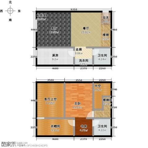 天通・公园里1室0厅2卫1厨111.50㎡户型图