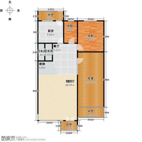 三水青清2室1厅2卫1厨118.40㎡户型图