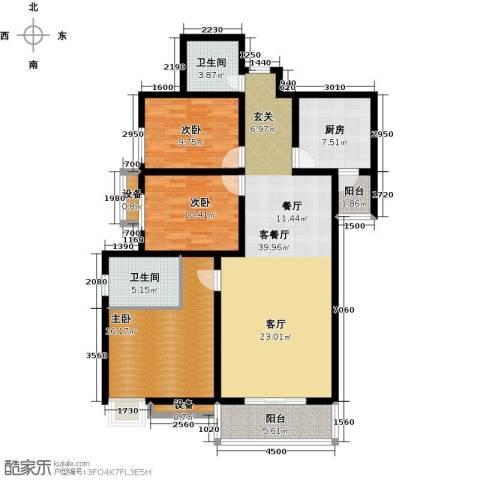 西江月3室1厅2卫1厨147.00㎡户型图