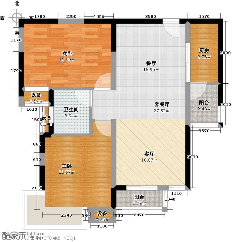 珠江新城85.00㎡珠江新城85.00㎡户型10室