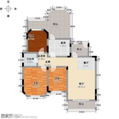 城置金色年华3室0厅1卫1厨109.00㎡户型图