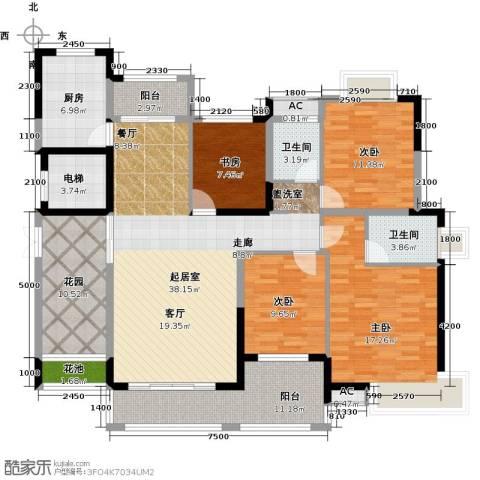 辉煌国际城4室0厅2卫1厨148.00㎡户型图