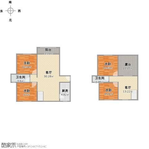 静安新城八区4室2厅2卫1厨144.00㎡户型图