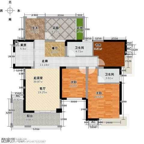 辉煌国际城3室0厅2卫1厨138.00㎡户型图
