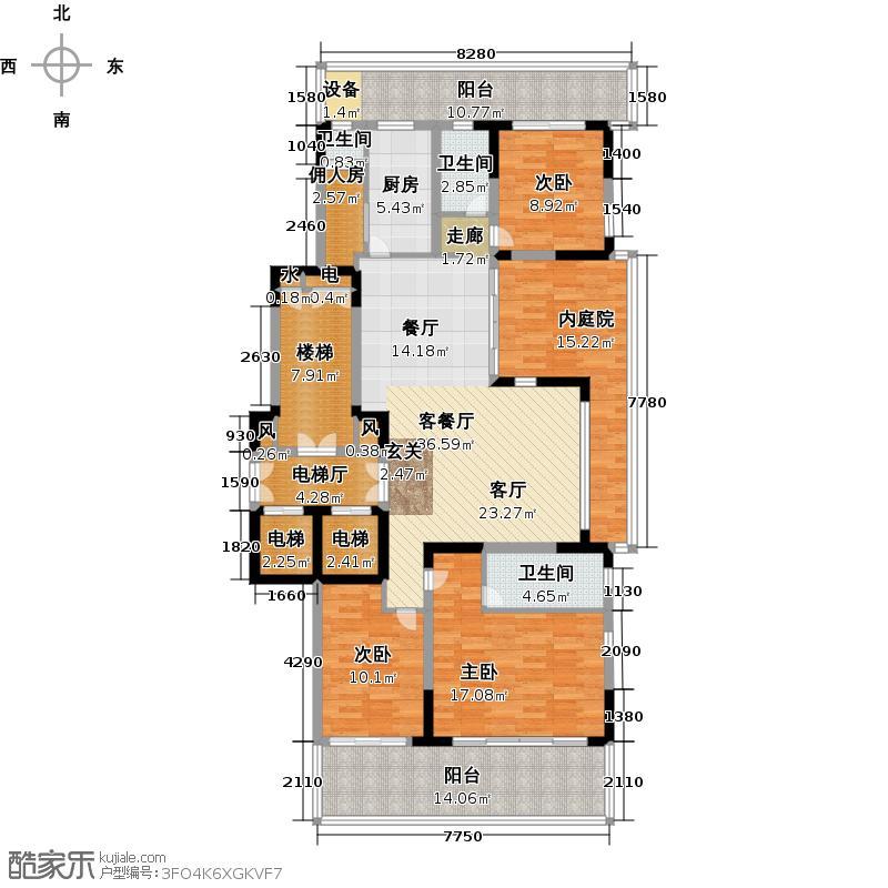 翠屏国际城172.00㎡四房二厅二卫-194平方米-12套户型