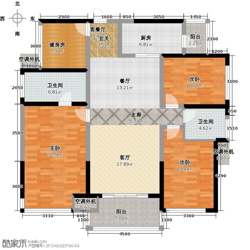 荣和公园悦府140.00㎡C2户型(约140.29)�户型4室2厅2卫
