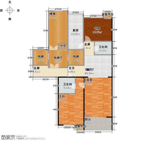 都市节奏2室1厅2卫1厨131.78㎡户型图