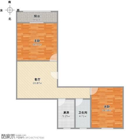 上中西路767弄小区2室1厅1卫1厨90.00㎡户型图