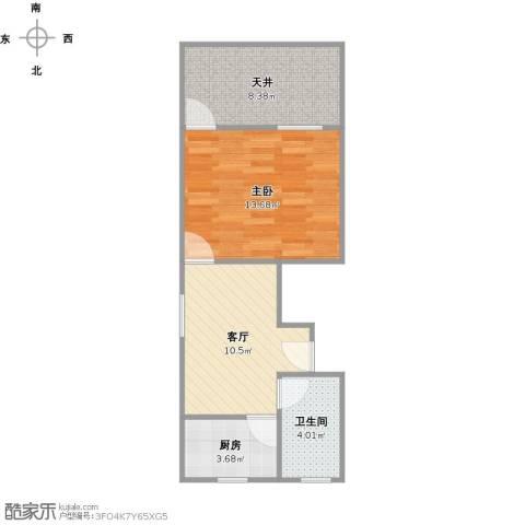 梅陇六村1室1厅1卫1厨55.00㎡户型图