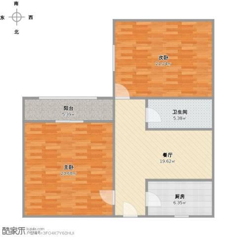 共和新路4703弄小区2室1厅1卫1厨109.00㎡户型图