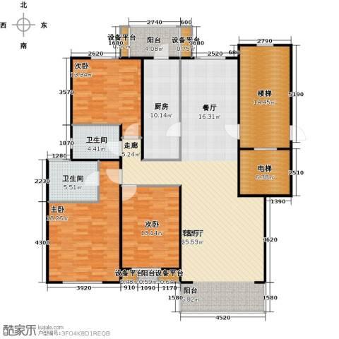 燕归宁馨园3室1厅2卫1厨147.00㎡户型图