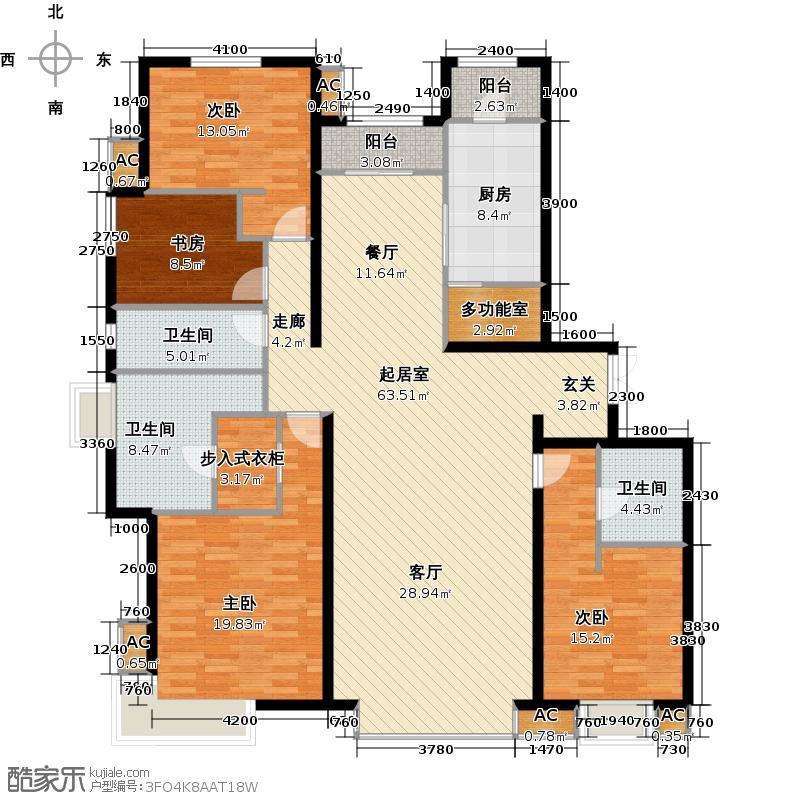 富力桃园C10-02户型四室两厅两卫户型