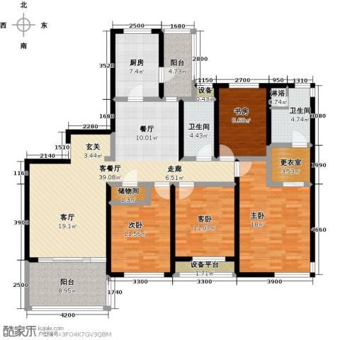 金湖湾花园4室1厅2卫1厨164.00㎡户型图