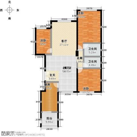 亚特兰大厦3室0厅2卫1厨143.00㎡户型图