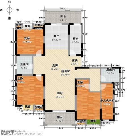 世茂香槟湖3室0厅2卫1厨164.00㎡户型图
