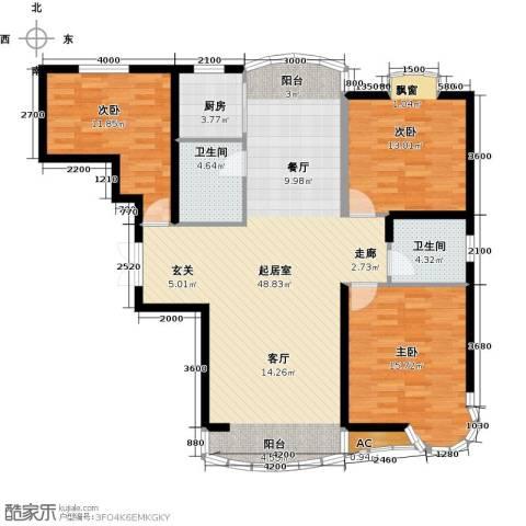 俪晶阁3室0厅2卫1厨115.29㎡户型图