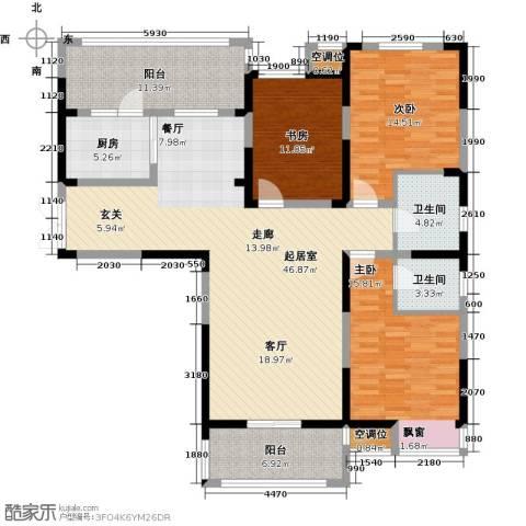 世茂香槟湖3室0厅2卫1厨139.00㎡户型图