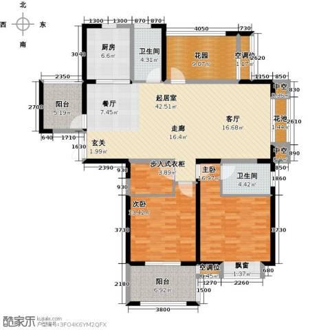 世茂香槟湖2室0厅2卫1厨135.00㎡户型图