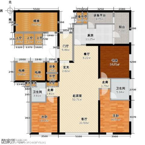 US联邦公寓3室0厅2卫1厨184.00㎡户型图
