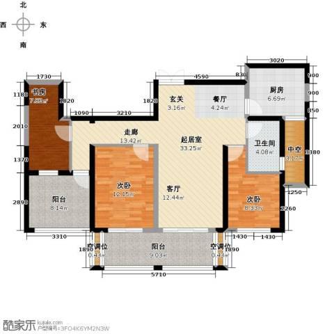 世茂香槟湖3室0厅1卫1厨109.00㎡户型图