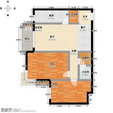 万科东第2室0厅1卫1厨115.00㎡户型图