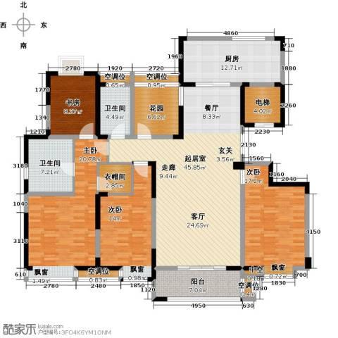 世茂香槟湖4室0厅2卫1厨178.00㎡户型图