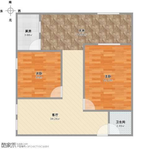 德州七村2室1厅1卫1厨88.00㎡户型图