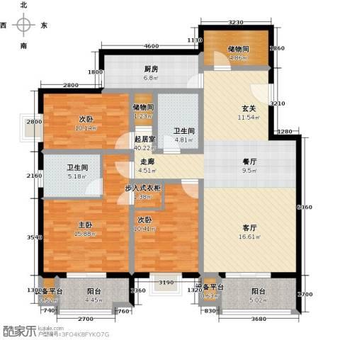万科东第3室0厅2卫1厨163.00㎡户型图