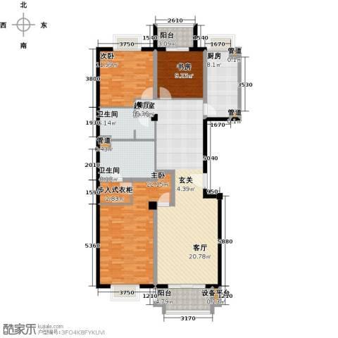 万科东第3室0厅2卫1厨169.00㎡户型图