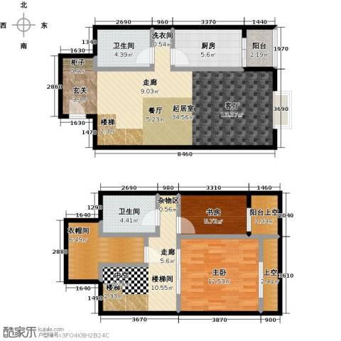 天通・公园里2室0厅2卫1厨91.18㎡户型图
