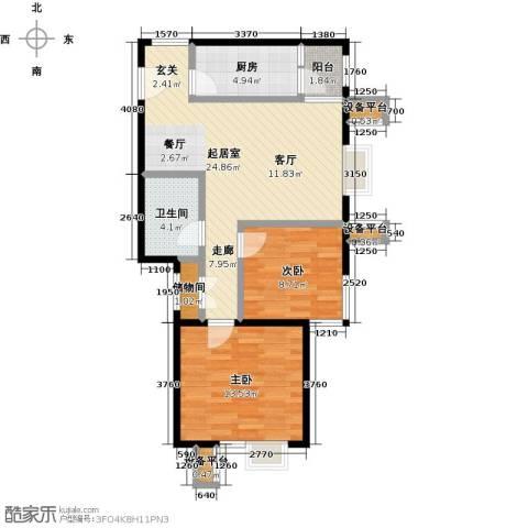 北京北2室0厅1卫1厨89.00㎡户型图