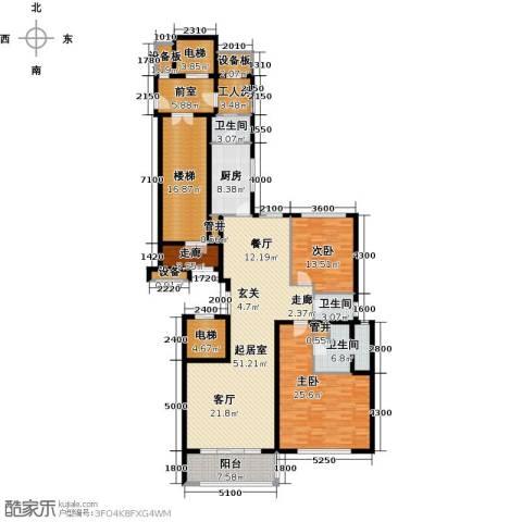 万达大湖公馆2室0厅3卫1厨234.00㎡户型图