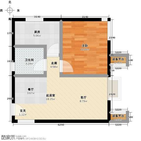 北京北1室0厅1卫1厨56.00㎡户型图