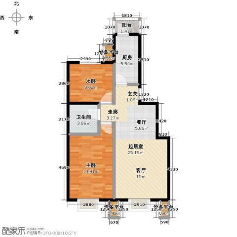 北京北2室0厅1卫1厨86.00㎡户型图