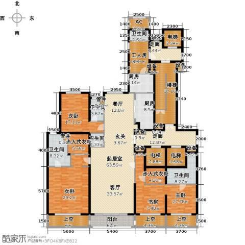 万达大湖公馆3室0厅5卫2厨392.00㎡户型图
