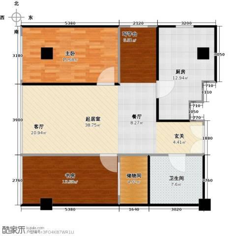 东方郁金香2室0厅1卫1厨100.00㎡户型图