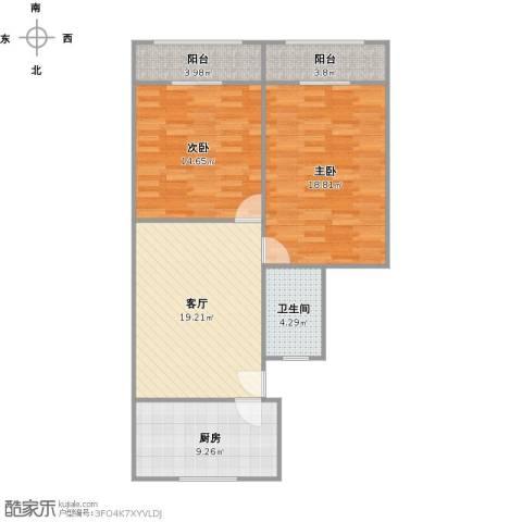 宝昌路847弄小区2室1厅1卫1厨99.00㎡户型图