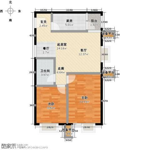 北京北2室0厅1卫1厨88.00㎡户型图