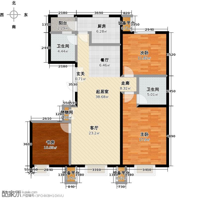 北京北112.63㎡C1户型三室一厅二卫户型