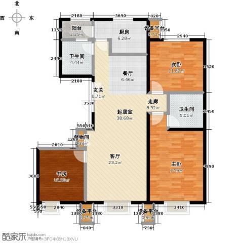 北京北3室0厅2卫1厨113.00㎡户型图