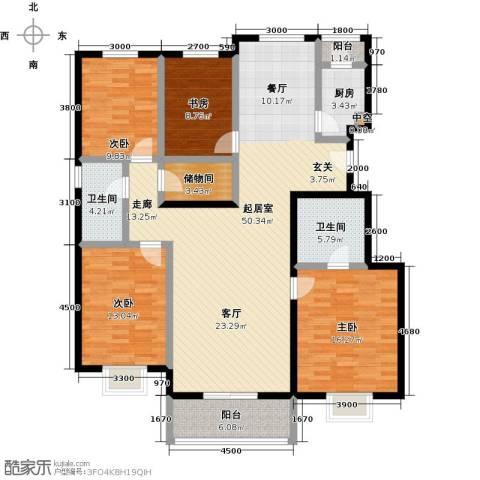 紫金新干线4室0厅2卫1厨160.00㎡户型图