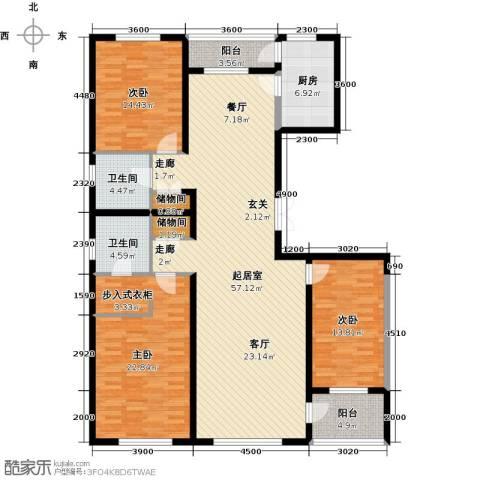 美伦堡3室0厅2卫1厨190.00㎡户型图