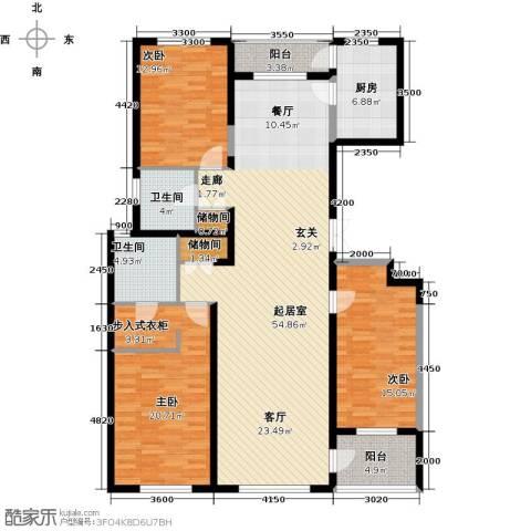 美伦堡3室0厅2卫1厨183.00㎡户型图