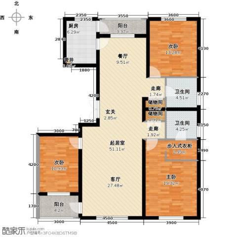 美伦堡3室0厅2卫1厨168.00㎡户型图