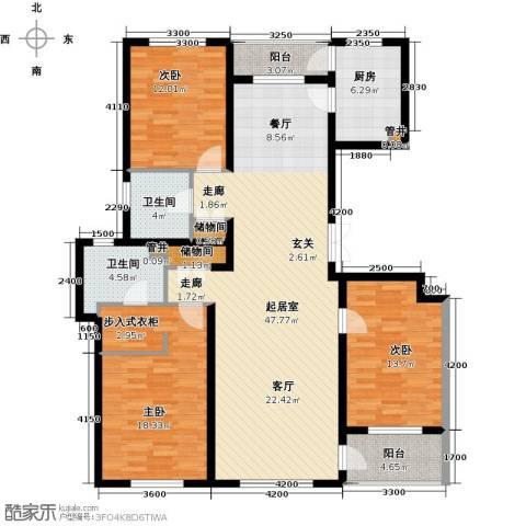 美伦堡3室0厅2卫1厨165.00㎡户型图