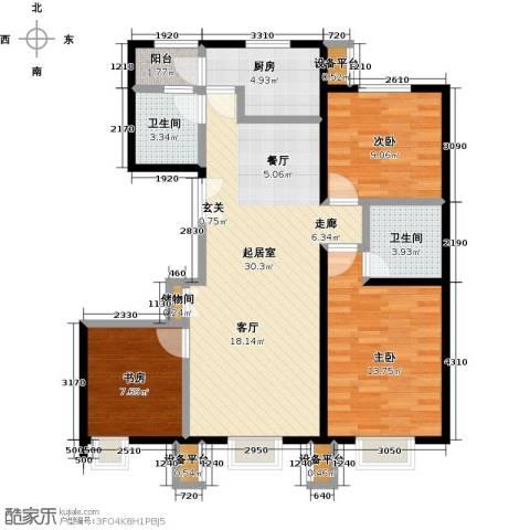 北京北3室0厅2卫1厨110.00㎡户型图