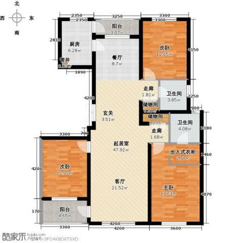 美伦堡3室0厅2卫1厨161.00㎡户型图