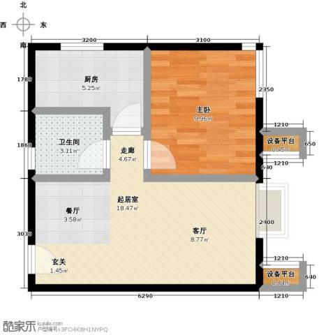 北京北1室0厅1卫1厨54.00㎡户型图